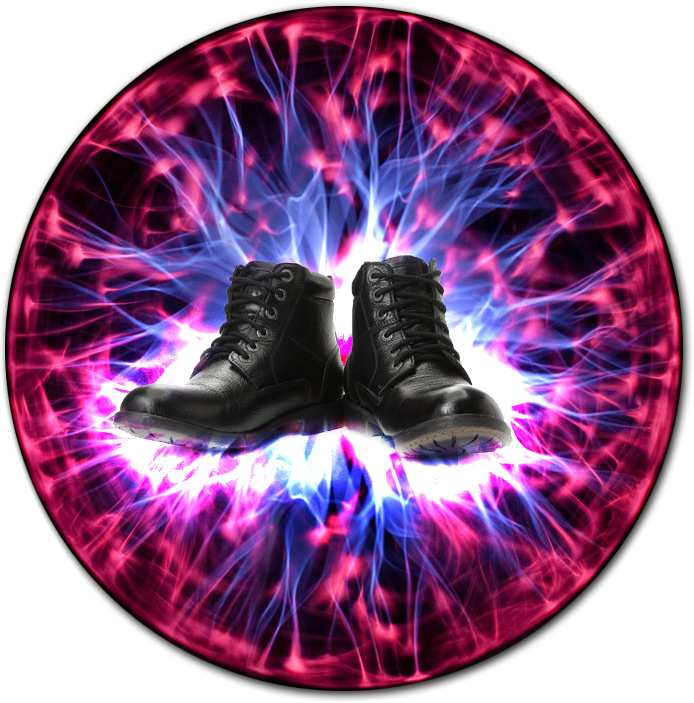 Illustration of the Electrostatic Boots