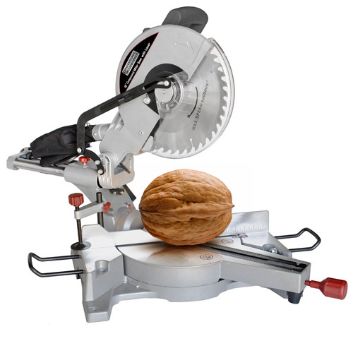 Illustration of the Mitre Saw for Walnuts
