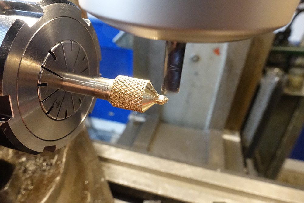 Making a flat spot with an endmill