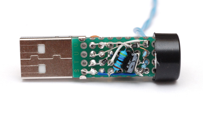 Underside of the morse key circuit