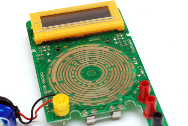 The multimeter circuit from the front