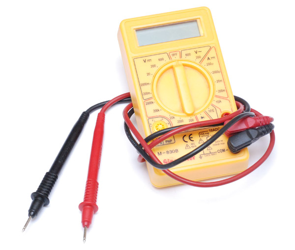 The multimeter closed up, with leads wrapped around it, no one would suspect a thing