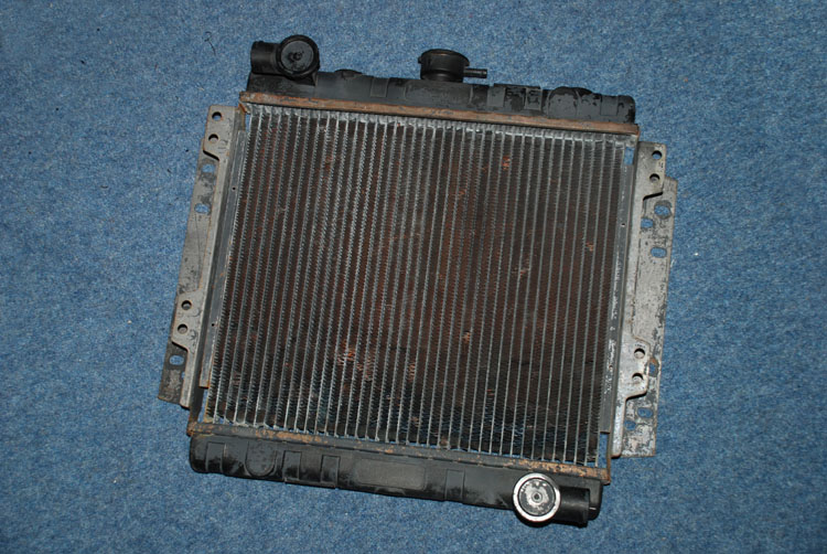 The car radiator we started with