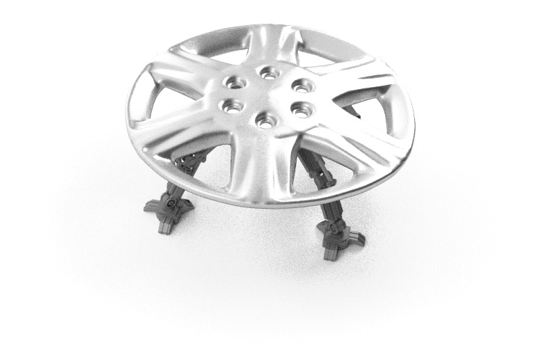 Render of the homing hubcap from above
