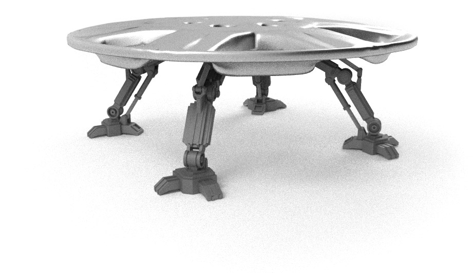 Render of the hubcap with legs extended, ready to return home