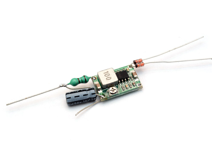 A small buck converter with diodes and LC filter added